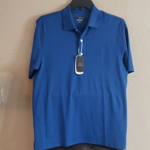 New Greg Norman Blue Play Dry Polo Medium